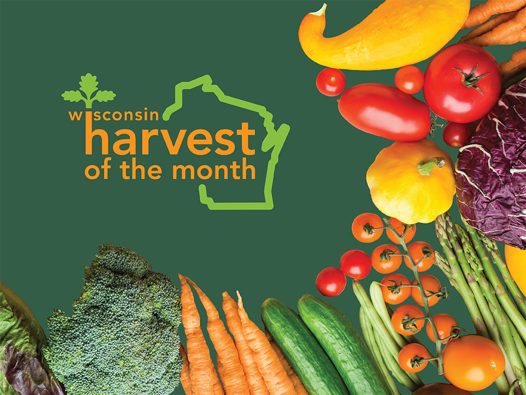 Wisconsin Harvest of the Month title and fresh vegetables