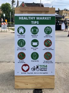 Healthy Market Tips poster